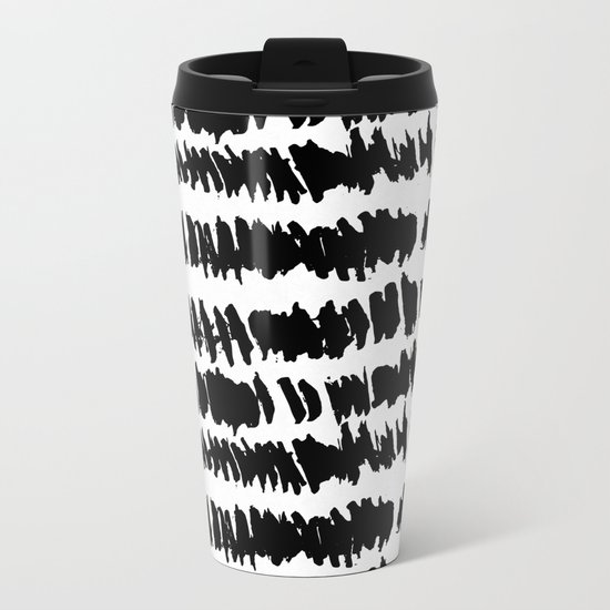 Modern Paint Stripe Metal Travel Mug