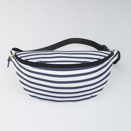 Navy Blue Nautical Stripes Minimal Fanny Pack
