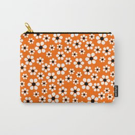 Dizzy Daisies - Orange Carry-All Pouch