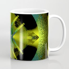 Spinning Wheel Hubcap in Lime Green Coffee Mug