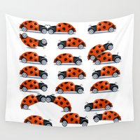 bug Wall Tapestries featuring Bug fun by John Medbury (LAZY J Studios)