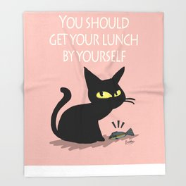 Get your lunch Throw Blanket