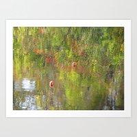 Fishing in Fall Art Print