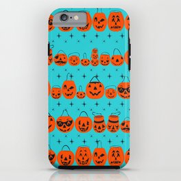 Trick or Treat Smell My Feet- Turquoise iPhone Case