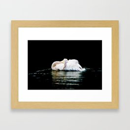 Feather Pillow Framed Art Print