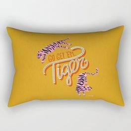 Go Get 'Em Tiger – Yellow Palette Rectangular Pillow