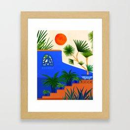 Southwest Summer Garden Framed Art Print