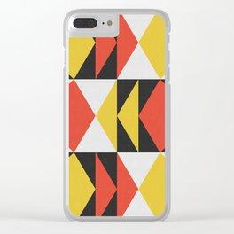 Geometric and dynamic II Clear iPhone Case