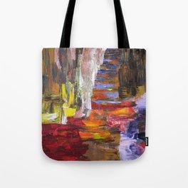 Mountain river bright image Tote Bag