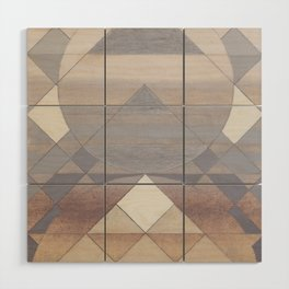 Pyramid Sun Fog Wood Wall Art