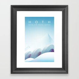 Outer Rim Travel Bureau: Hoth Framed Art Print