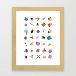 Gridlock Geometric Summer Framed Art Print
