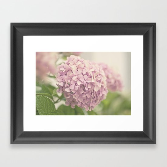 Hortensias Framed Art Print