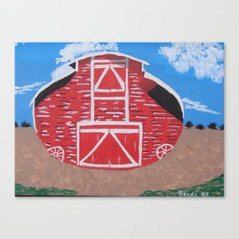 Red Wood Farm Barn Canvas Print
