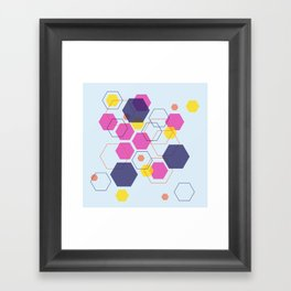 Hexagon Wonderland Framed Art Print