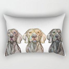 Triple Hunting Dogs Rectangular Pillow