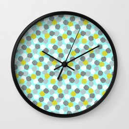 Block Printed Floral Wall Clock