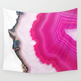 Pink Agate Slice Wall Tapestry