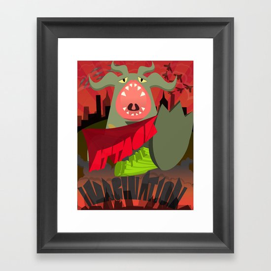 Attack of my Imagination Framed Art Print