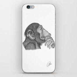 The thinker monkey iPhone Skin