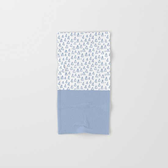 Triangles Light Blue Hand & Bath Towel