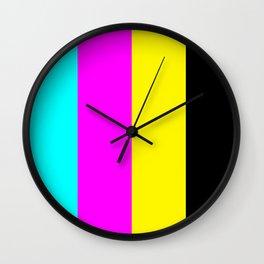 CMYK 100 Wall Clock