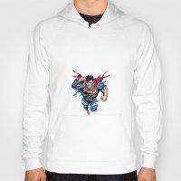 superman Hoodies featuring Superman by Mari Vasilescu