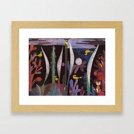 Landscape With Yellow Birds Paul Klee Framed Art Print