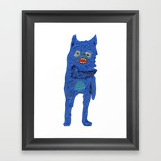 el monstro azul Framed Art Print