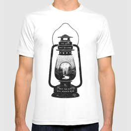 THE PATH MAY BE DARK BUT THE SUN WILL ALWAYS RISE T-shirt