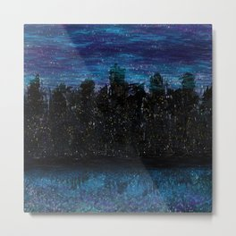 Darkened Blue Metal Print