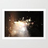 New Years Fireworks Art Print