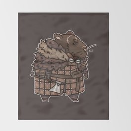 Rollo the Viking Hamster Throw Blanket