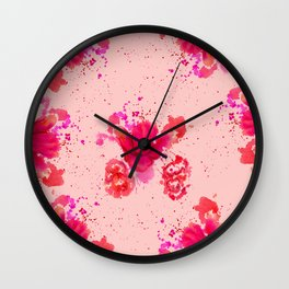 Purple Watercolor Flower Wall Clock