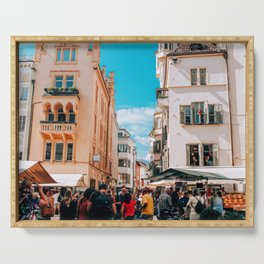 Crowds | Bolzano, Italy Serving Tray