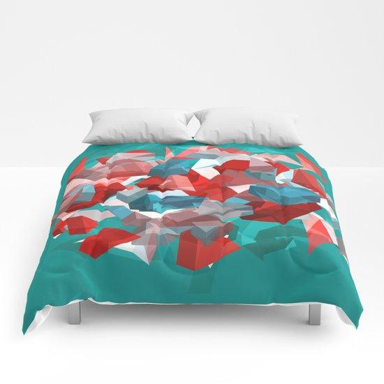 exploding polygones Comforters