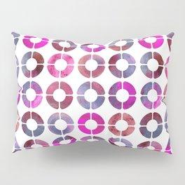 Watercolor Rings - Magenta & Jean Pillow Sham