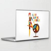 hippie Laptop & iPad Skins featuring Hippie Chick by Szoki
