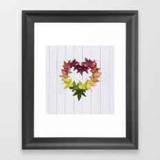 Autumn love Framed Art Print