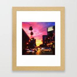 Sunset & Vine- Hollywood, CA Framed Art Print