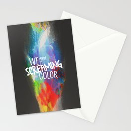 SCREAMING COLOR Stationery Cards