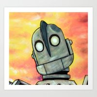 iron giant Art Prints featuring The Iron Giant by MSG Imaging
