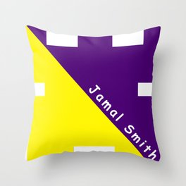 Ninja Yellow and Purple Throw Pillow