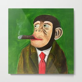 Rich Monkey from Animal Society Metal Print