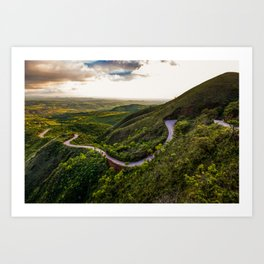 Curves and Curves Art Print