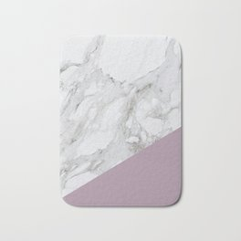 Baesic Purple Marble Bath Mat