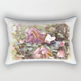 Petals In The Wind Rectangular Pillow