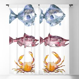Alaska Marine Life Blackout Curtain