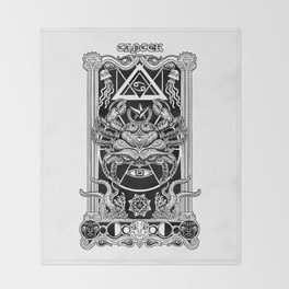 Abyss Cancer Obscurity Throw Blanket