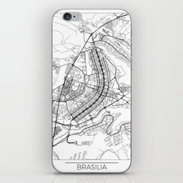 Brasilia Map White iPhone Skin